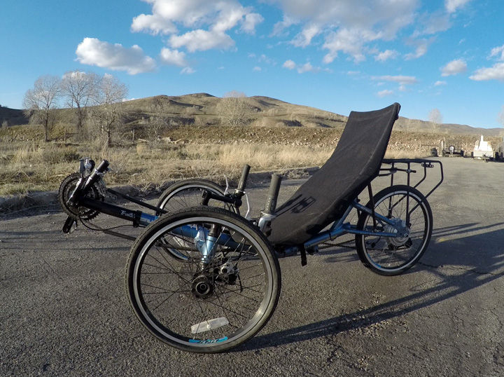 tadpole trike with a Leeds rear wheel kit
