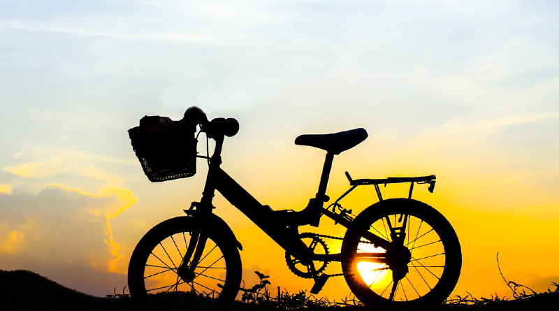 electric bike sunset