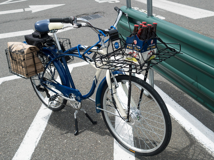 a cruiser with an electric bike conversion kit