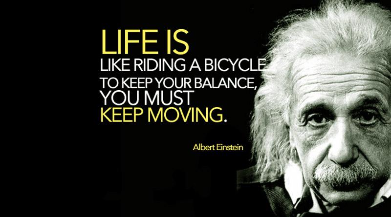 albert einstein bicycle quote