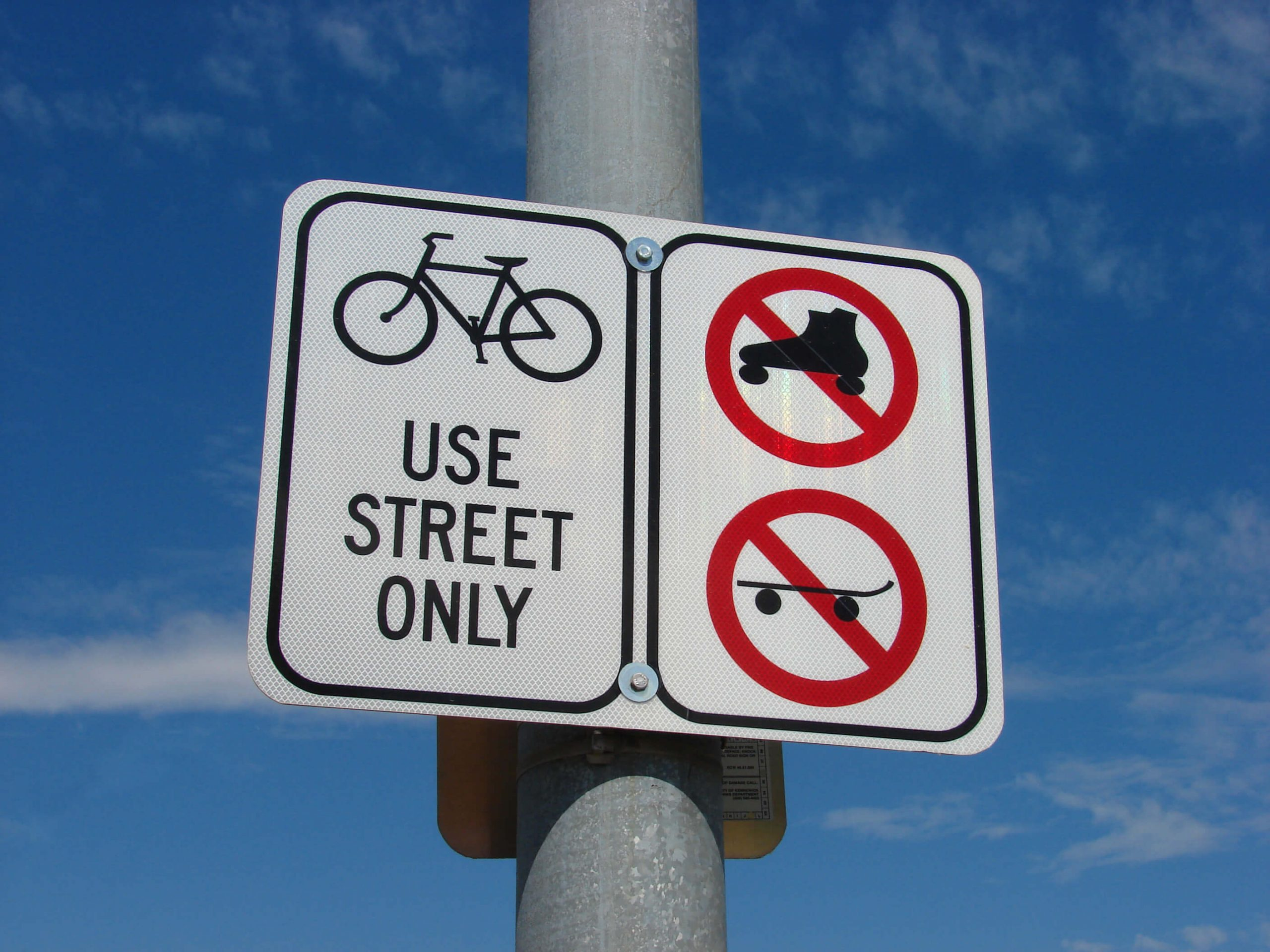 Bicycle Law Sign Board