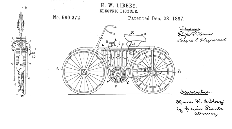 electric bike patent libbey
