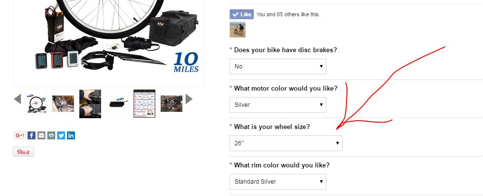 example of a Leeds Bikes product page