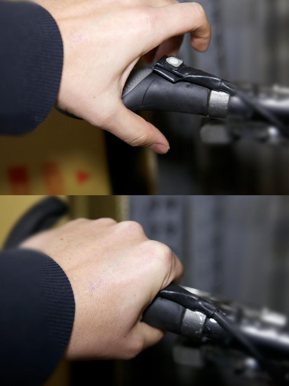Leed's push-button throttle