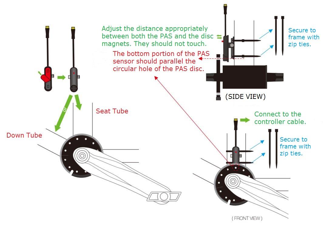 pedal assist sensor installation diagram