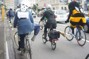 People riding their Bikes