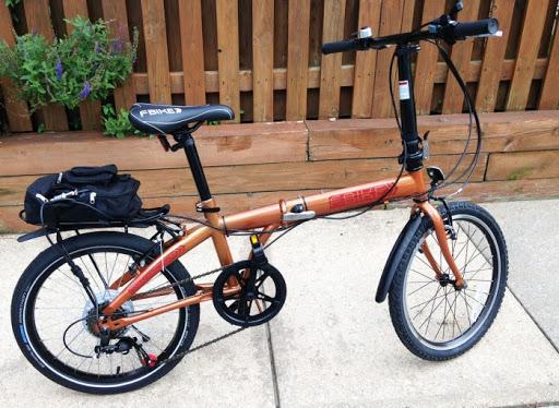 orange bike with a real-wheel e-bike conversion kit