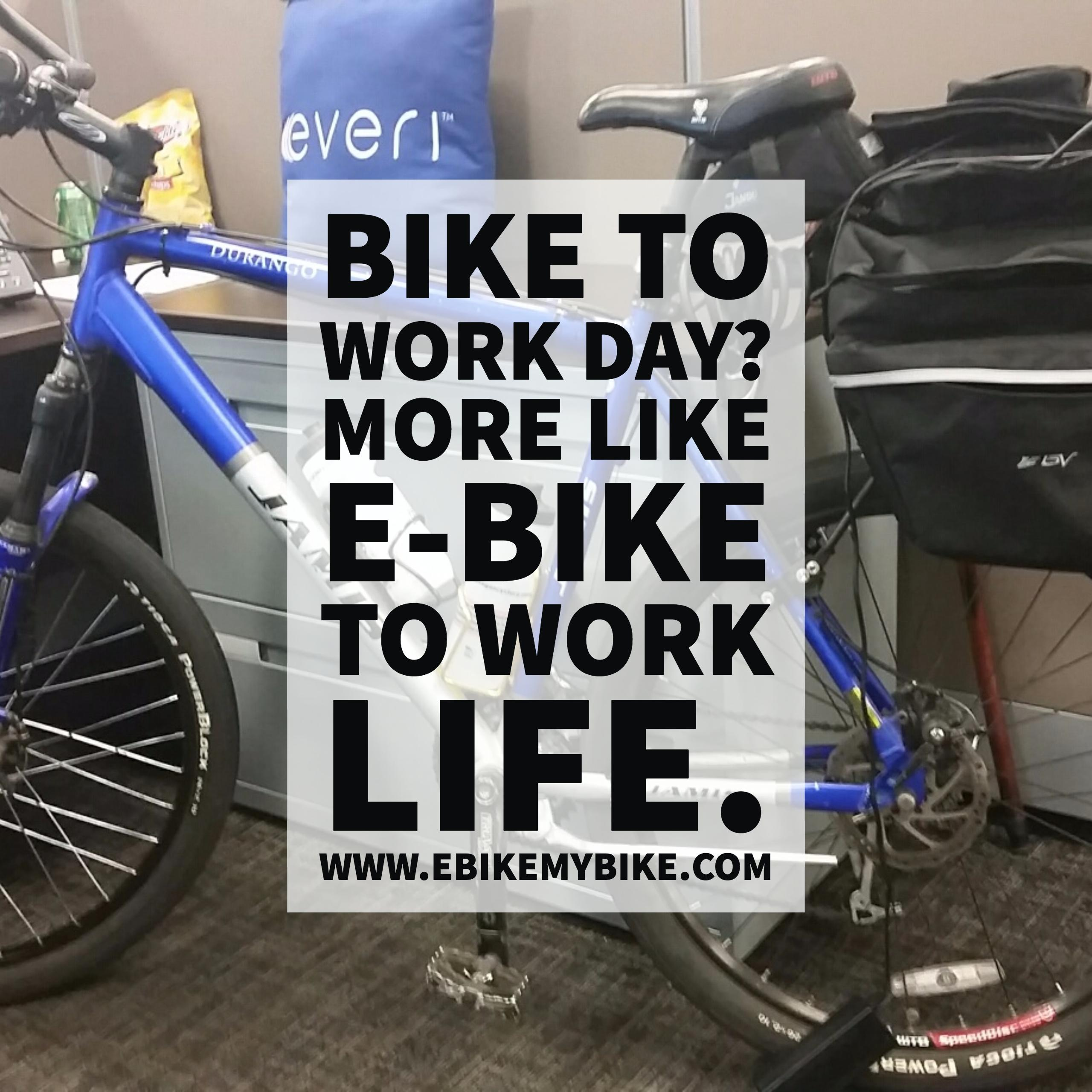 commute to work with an electric bicycle