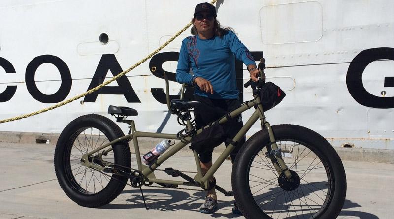 ebike conversion kit on tandem fat bike