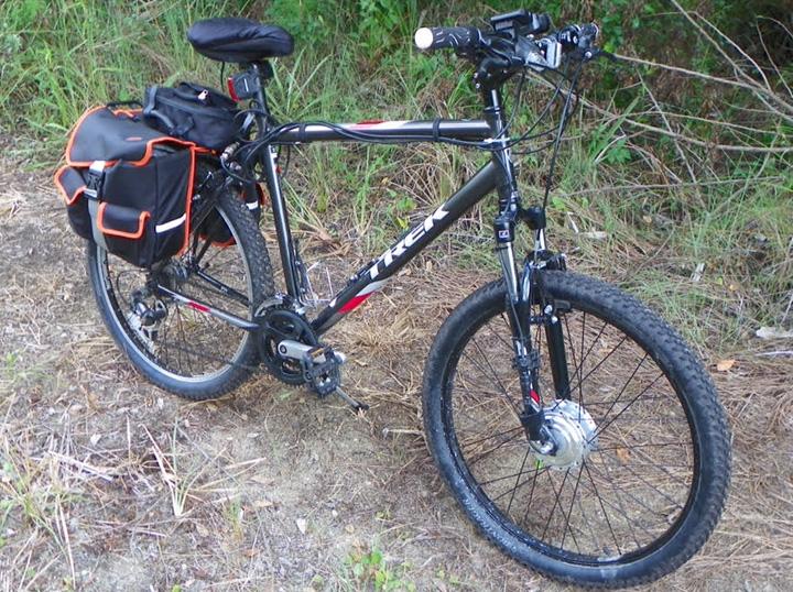 electric bike kit on bike