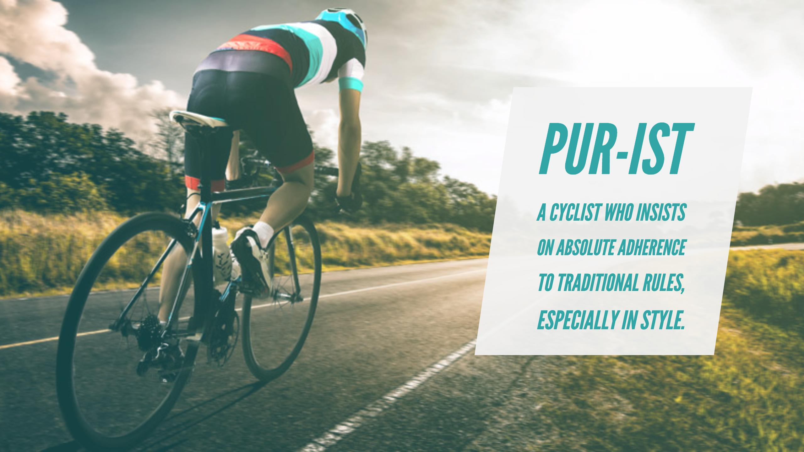 purist cyclists believe in tradition not electric bike benefits