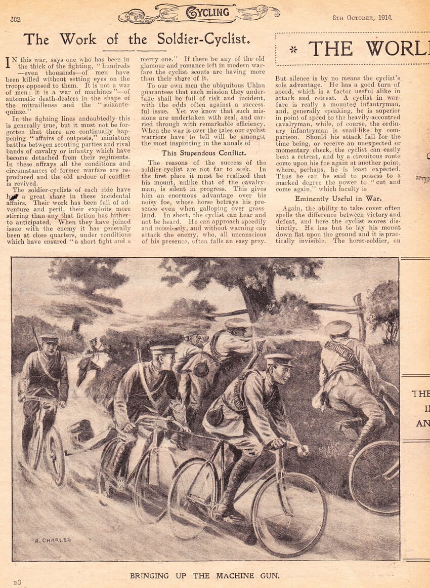 world war one military bicycle soldier cyclist