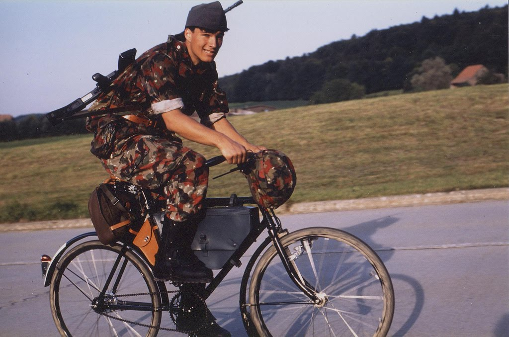 swiss army military bicycle infantry
