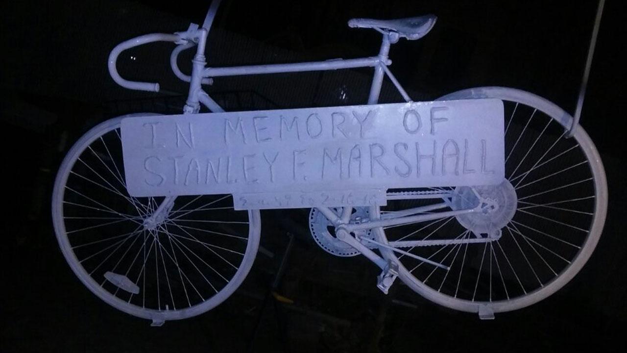 ghost bike memorial in new york city