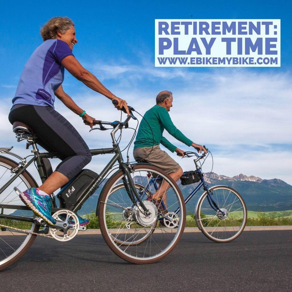 We started our company when I was 32 years-old thinking most of our customers would be bicycle commuters like I was. To my surprise most of our customers are baby-boomers. Feel like a kid again! #ebike #ebikekit #bicycle #bike #electricbike #seniors #retirement