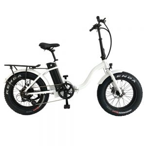 Low Step White Metro Cross E-bike by Leeds Bikes