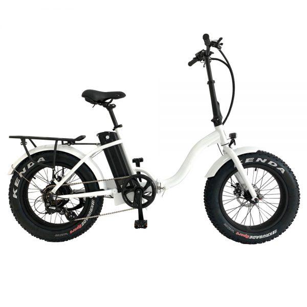 Low Step White Metro Cross E-bike by Leeds Bikes