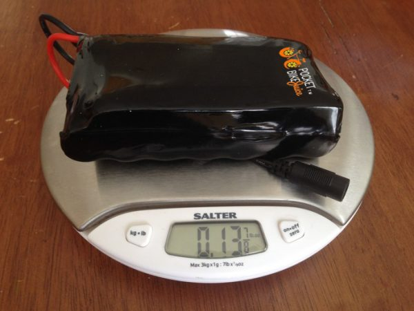 Pocket Bike Juice Kit on Weighing Machine
