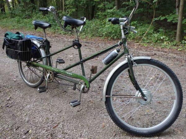 An Ebike with Leeds 10.4 AH Samsung 30K E-Bike Kit