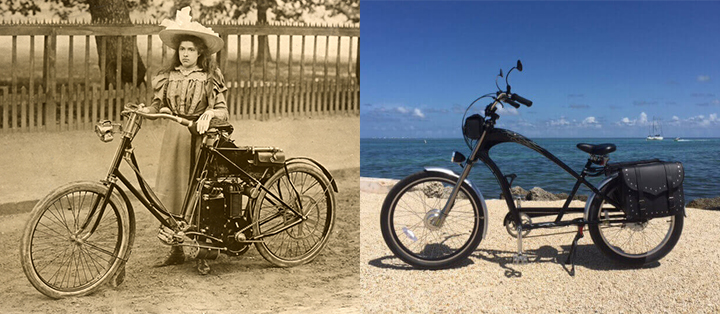 Old and Modern E-bikes