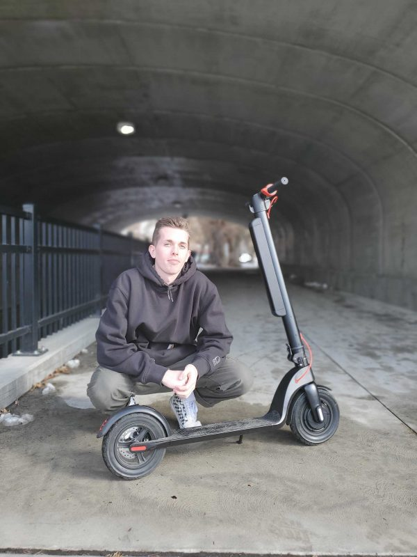 A man with his Leeds Cyberscooter