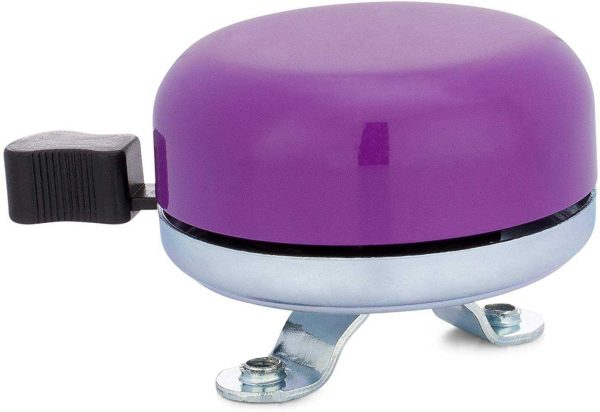 Classic Beach Cruiser Bicycle Bell in Purple
