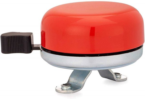 Classic Beach Cruiser Bicycle Bell in Red