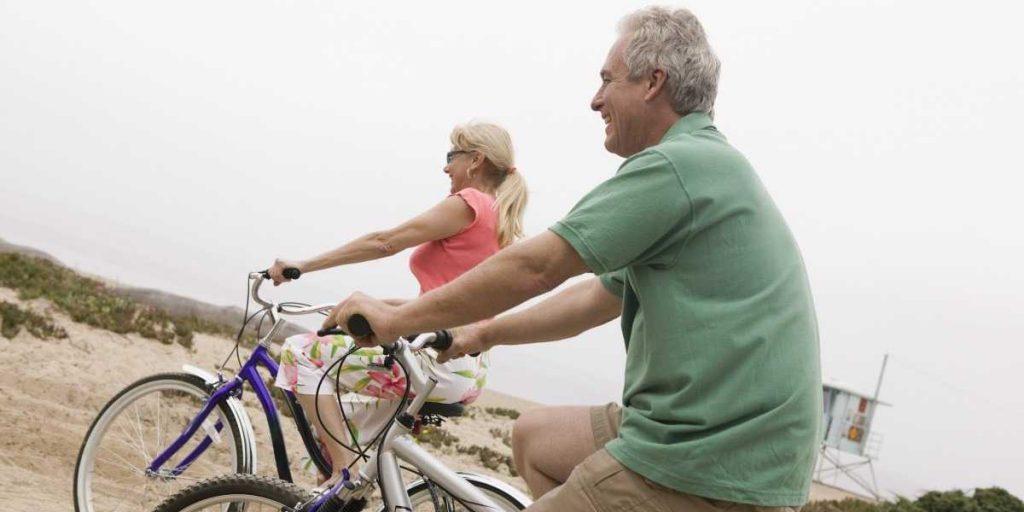 People Ride on E-bikes